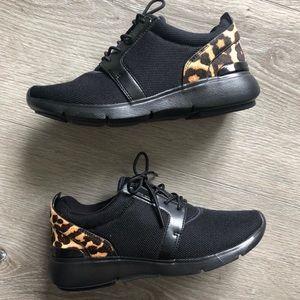 Michael Kors Amanda Leopard Sneakers NWOB Sz 6
